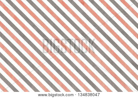 Watercolor Pink And Grey Striped Background.