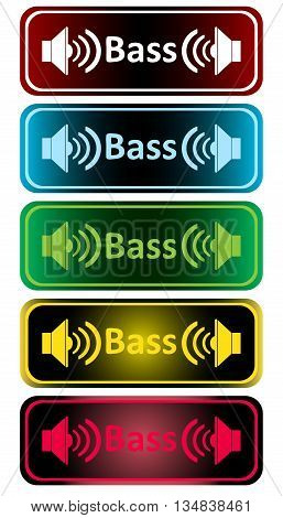Clipart with color loudspeakers and an inscription bass