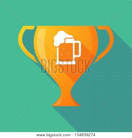 Long Shadow Award Cup Icon With  A Beer Jar Icon