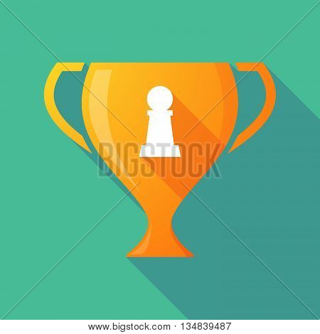 Long Shadow Award Cup Icon With A  Pawn Chess Figure
