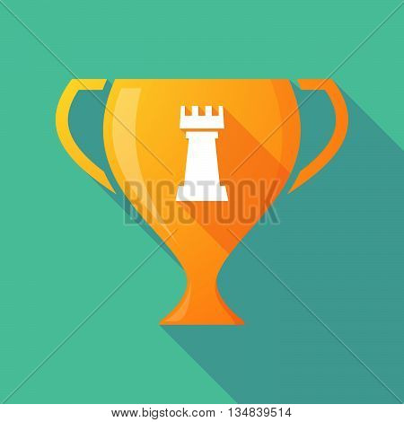Long Shadow Award Cup Icon With A  Rook   Chess Figure