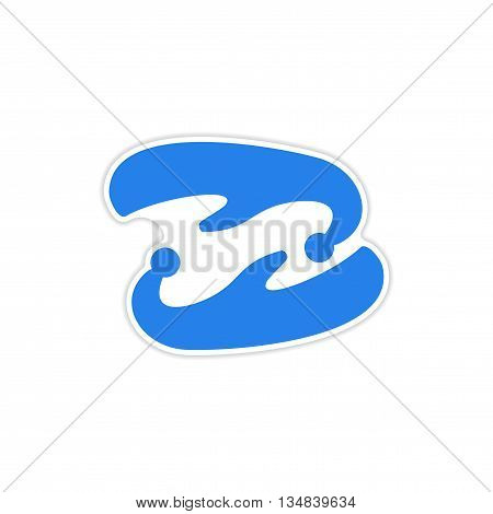 icon sticker realistic design on paper ancient shoes
