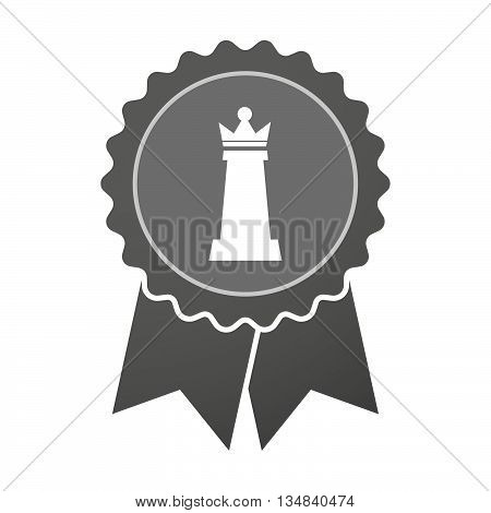 Isolated Award Badge With A  Queen   Chess Figure