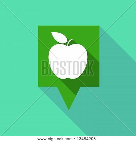 Long Tooltip Icon With An Apple