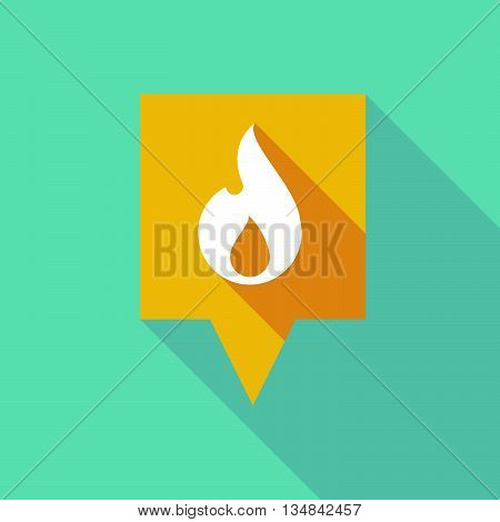 Long Tooltip Icon With A Flame