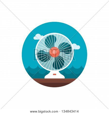 Ventilator vector icon. Summer. Summertime. Holiday. Vacation eps 10