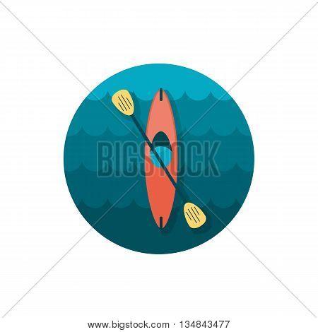 Kayak icon. Canoe vector. Beach. Summer. Summertime. Holiday. Vacation eps 10