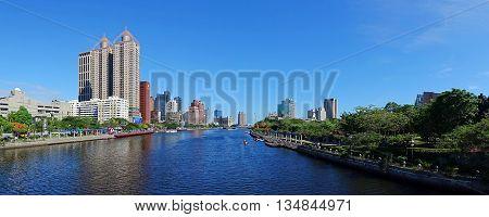 Beautiful Panorama Of The Love River In Taiwan