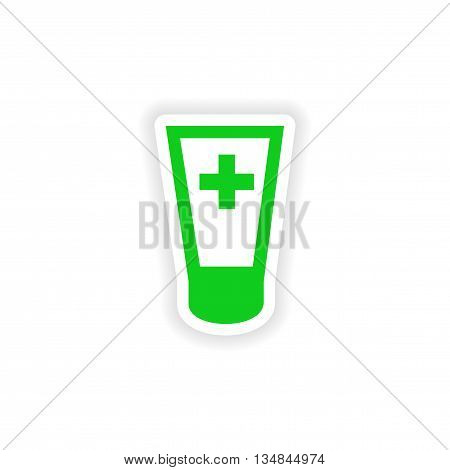 icon sticker realistic design on paper ointment