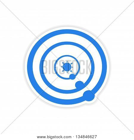 icon sticker realistic design on paper solar system