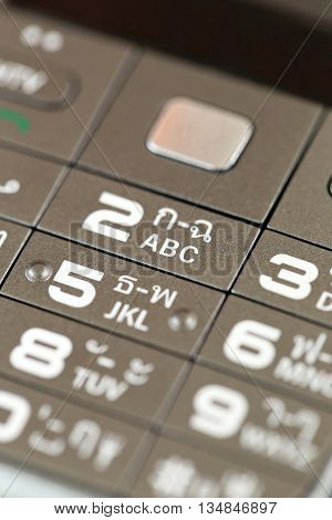 keypad of a cell phone numbers for a background design technology.