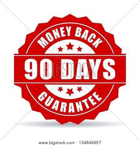 90 days money back guarantee icon on white background