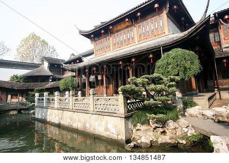 Private garden of Qing Dynasty Chinese merchant Hu Xueyang Hangzhou China