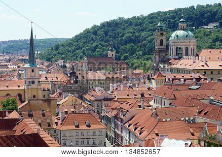 Golden City Prague sightseeing landmarks cathedral roofs