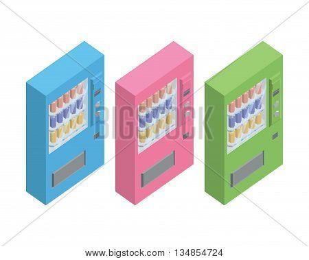 automatic vending machine, Vending machine vector set.
