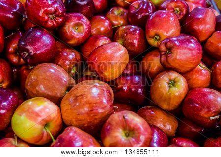 Red apples background, Red apples background apple