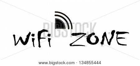 Wifi black icon concept logo or icon