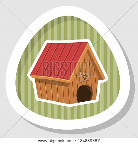 Doghouse colorful icon. Vector illustration in cartoon style