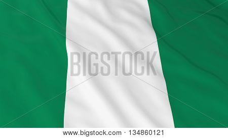 Nigerian Flag Hd Background - Flag Of Nigeria 3D Illustration