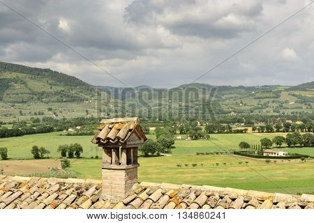 Landscape View From Spello