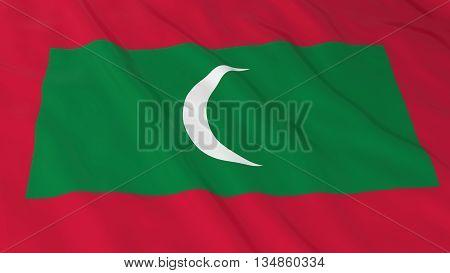 Maldivian Flag Hd Background - Flag Of Maldives 3D Illustration