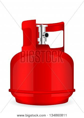 Propane gas cylinder on a white background.
