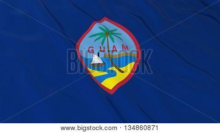 Guamanian Flag Hd Background - Flag Of Guam 3D Illustration