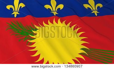Guadeloupian Flag Hd Background - Flag Of Guadeloupe 3D Illustration