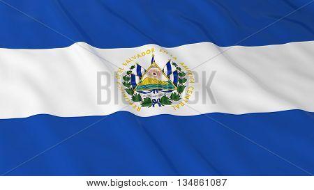 Salvadoran Flag Hd Background - Flag Of El Salvador 3D Illustration