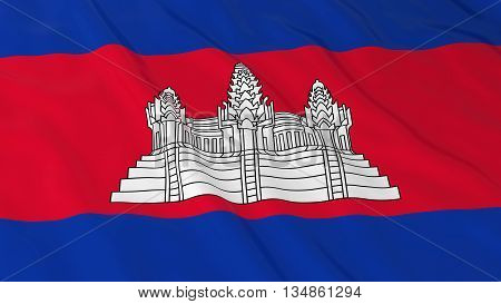 Cambodian Flag Hd Background - Flag Of Cambodia 3D Illustration
