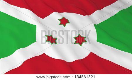 Burundian Flag Hd Background - Flag Of Burundi 3D Illustration