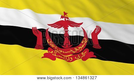 Bruneian Flag Hd Background - Flag Of Brunei 3D Illustration