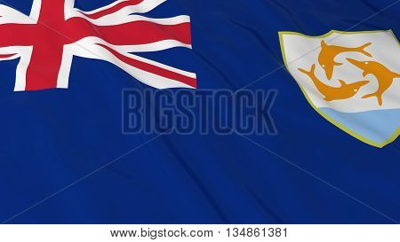 Anguillan Flag Hd Background - Flag Of Anguilla 3D Illustration