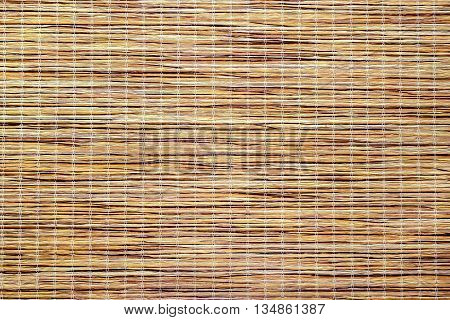 yellow-brown bamboo texture of the longitudinal strips
