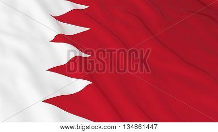 Bahraini Flag Hd Background - Flag Of Bahrain 3D Illustration
