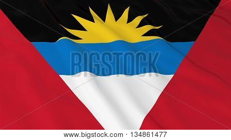 Antiguan And Barbudan Flag Hd Background - Flag Of Antigua And Barbuda 3D Illustration
