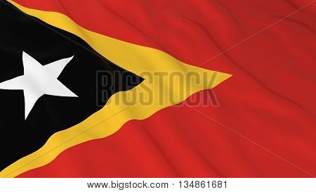 Timorese Flag Hd Background - Flag Of East Timor 3D Illustration