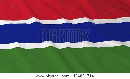Gambian Flag Hd Background - Flag Of Gambia 3D Illustration