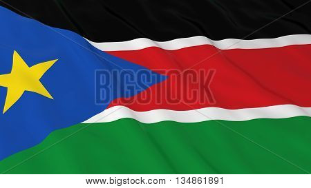 South Sudanese Flag Hd Background - Flag Of South Sudan 3D Illustration
