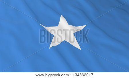 Somali Flag Hd Background - Flag Of Somalia 3D Illustration