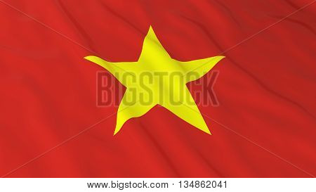 Vietnamese Flag Hd Background - Flag Of Vietnam 3D Illustration