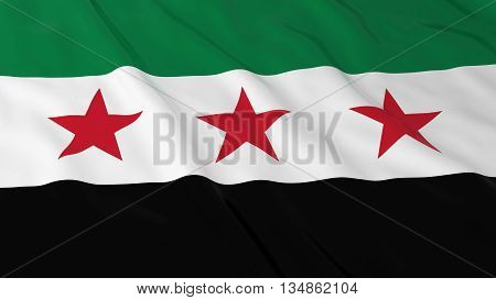 Syrian Opposition Flag Hd Background - Flag Of Syria 3D Illustration