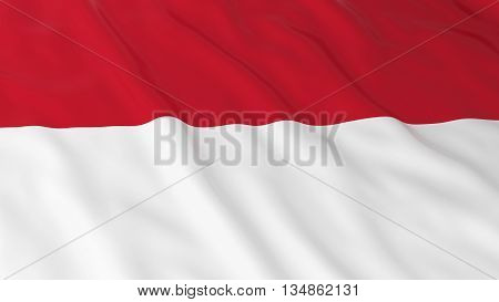 Monegasque / Indonesian Flag Hd Background - Flag Of Monaco / Indonesia 3D Illustration