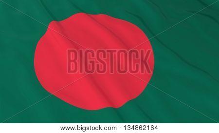 Bangladeshi Flag Hd Background - Flag Of Bangladesh 3D Illustration