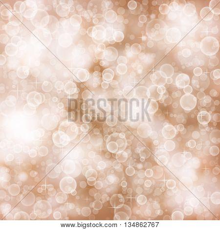 Elegant defocused background with bokeh and stars. Graphic illustration