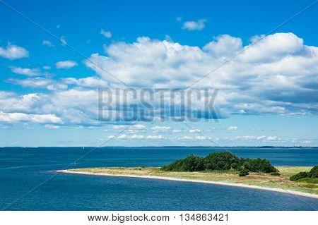Headland on the Baltic Sea coast in Gedser (Denmark).