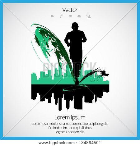 Runner, sport vector illustration