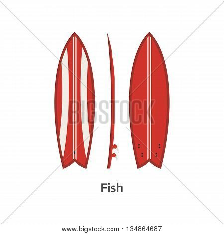 Fish Surfboard Desk Illustration