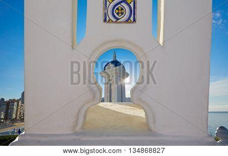 Benidorm Mirador del Castillo Mediterranean lookout point in Alicante Spain photomount