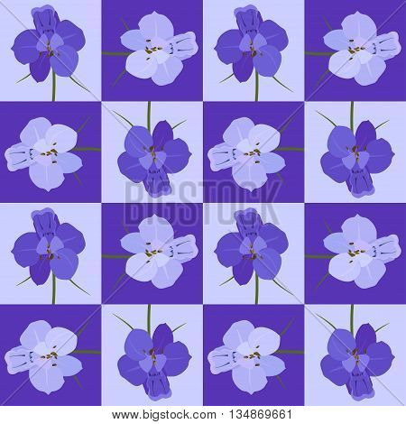 Violet seamless flower pattern. Vector seamless texture.Use for wallpaper pattern fills web page background.